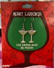 Merry Earrings ~ Martini Glasses