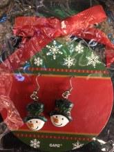 Snowman Tophat Earrings