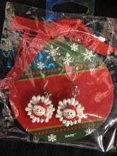 Snowman Snowflake Earrings