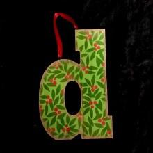 Merry Initials Ornament ~ D