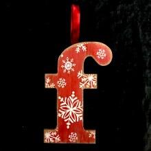 Merry Initials Ornament ~ F