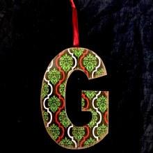 Merry Initials Ornament ~ G