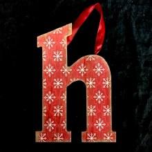 Merry Initials Ornament ~ H