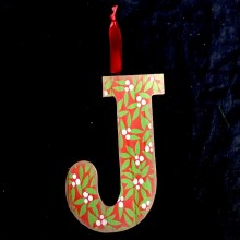 Merry Initials Ornament ~ J