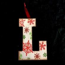 Merry Initials Ornament ~ L