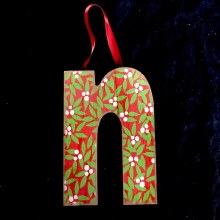 Merry Initials Ornament ~ N
