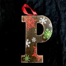 Merry Initials Ornament ~ P