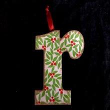 Merry Initials Ornament ~ R