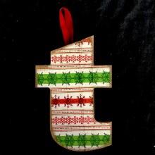 Merry Initials Ornament ~ T