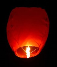 Flying Sky Lantern Red