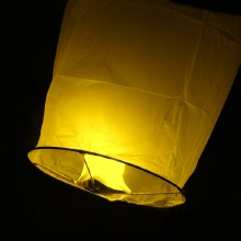 Flying Sky Lantern Yellow
