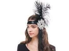 Flapper Headband Feathers