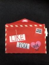 Valentines Felt Envelope I Like You A Lot