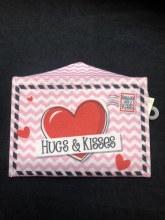 Valentines Felt Envelope Hugs & Kisses