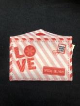 Valentines Felt Envelope LOVE
