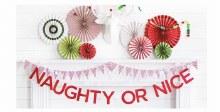 Naughty Or Nice Felt Banner ~ 7'