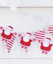 Sparkly Santa Holiday Banner ~ 8'
