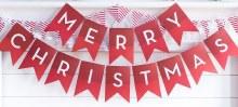Merry Christmas Banner ~ 8'