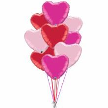 Balloon Bouquet Hearts All Around