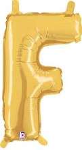 "14"" Gold Juniorloon Letter F"