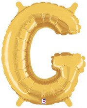 "14"" Gold Juniorloon Letter G"