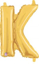 "14"" Gold Juniorloon Letter K"