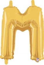 "14"" Gold Juniorloon Letter M"
