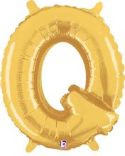 "14"" Gold Juniorloon Letter Q"