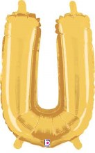 "14"" Gold Juniorloon Letter U"
