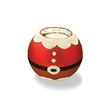 Santa Suit Tea Light Candle Holder