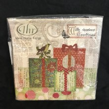 Song Bird & Presents Lunch Napkins ~ 20 Pack