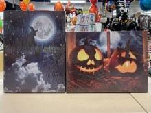 Canvas Light Up Halloween Asst