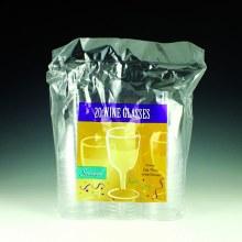 Wine Glasses 20ct Clear