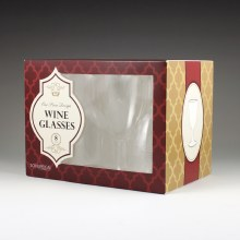 Wine Glasses 8ct Clear Boxed
