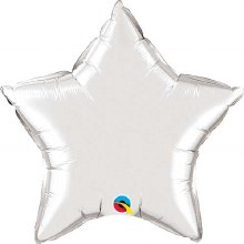 Jumbo Star ~ 36in Silver