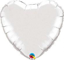 """Silver Heart ~ 18"""""""