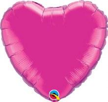 "Pink Magenta Heart ~ 18"""