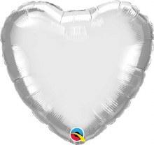"""MYLR Heart Chrome Silver 18"""""""