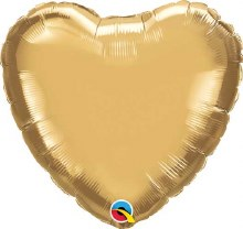 "Heart ~ Gold Chrome 18"""