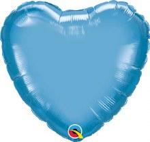 """MYLR Heart Chrome Blue 18"""""""