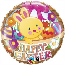"""Happy Easter Bunny In A Basket ~ 18"""""""