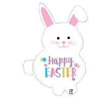 "Happy Easter Chubby Bunny ~ 32"""