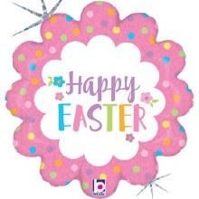 "Happy Easter Pastel Flower ~ 18"""