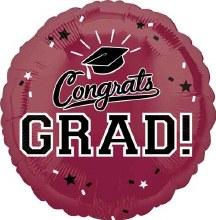 """Congrats Grad ~ BURGANDY 17"""""""
