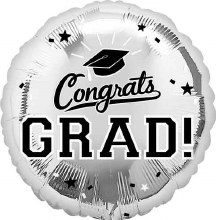"Congrats Grad ~ SILVER 17"""