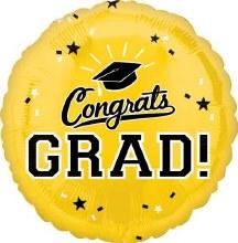 """Congrats Grad ~ YELLOW 17"""""""