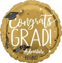 "And So The Adventure Begins Congrats Grad ~ 17"""