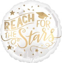 """White/Gold Graduation ~ Reach For The Stars ~ 17"""""""