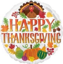 "Happy Thanksgiving ~ 17"""