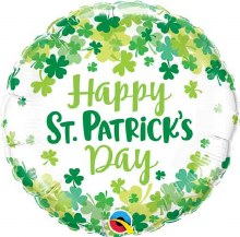 "Happy St. Patrick's Day Clovers ~ 18"""